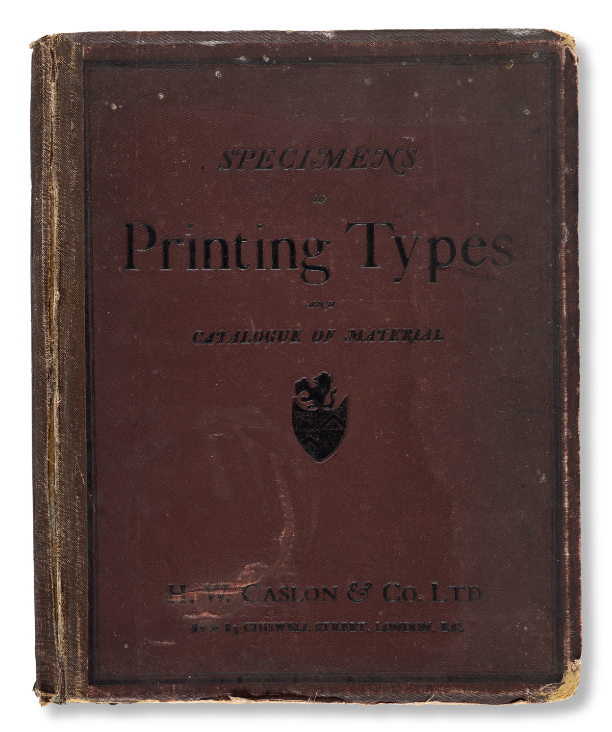 [SPECIMEN BOOK — H. W. CASLON]. Specimens of Types & Borders and Illustrated Catalogue of Printers' Joinery and Materials. London: H. W