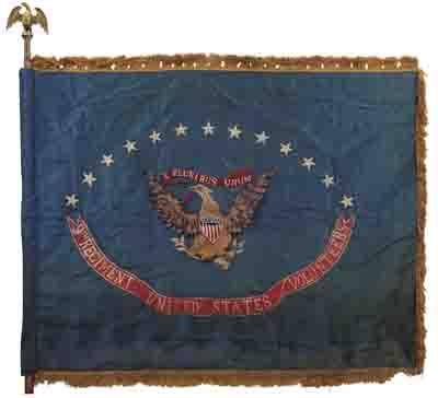 (MILITARY.) Regimental flag of the 9th Regiment of United States Volunteers.
