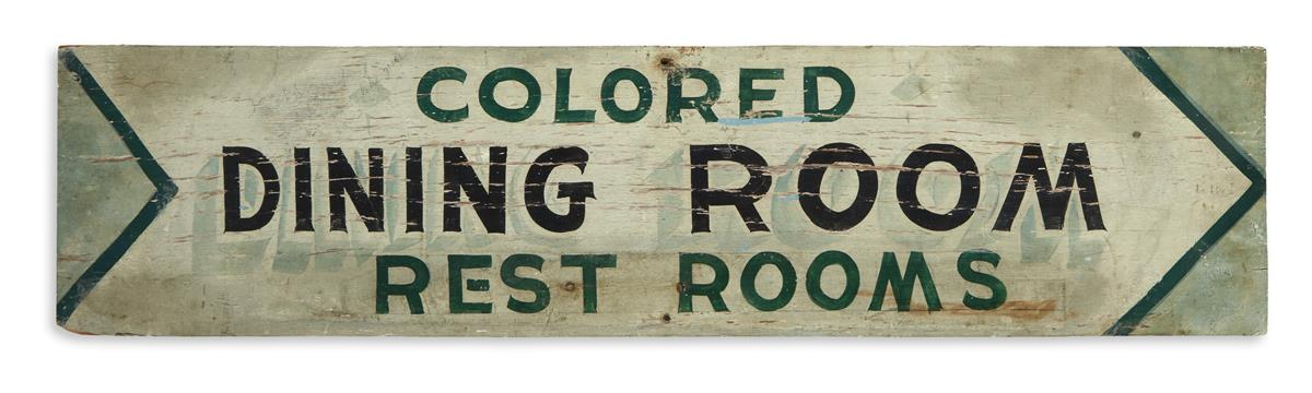 (CIVIL RIGHTS--SEGREGATION.) Colored Dining Room, Rest Rooms.