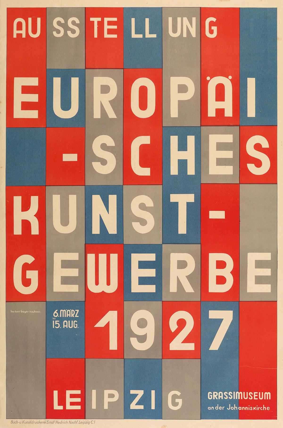 HERBERT-BAYER-(1900-1985)-AUSSTELLUNG-EUROPÄISCHES-KUNSTGEWE