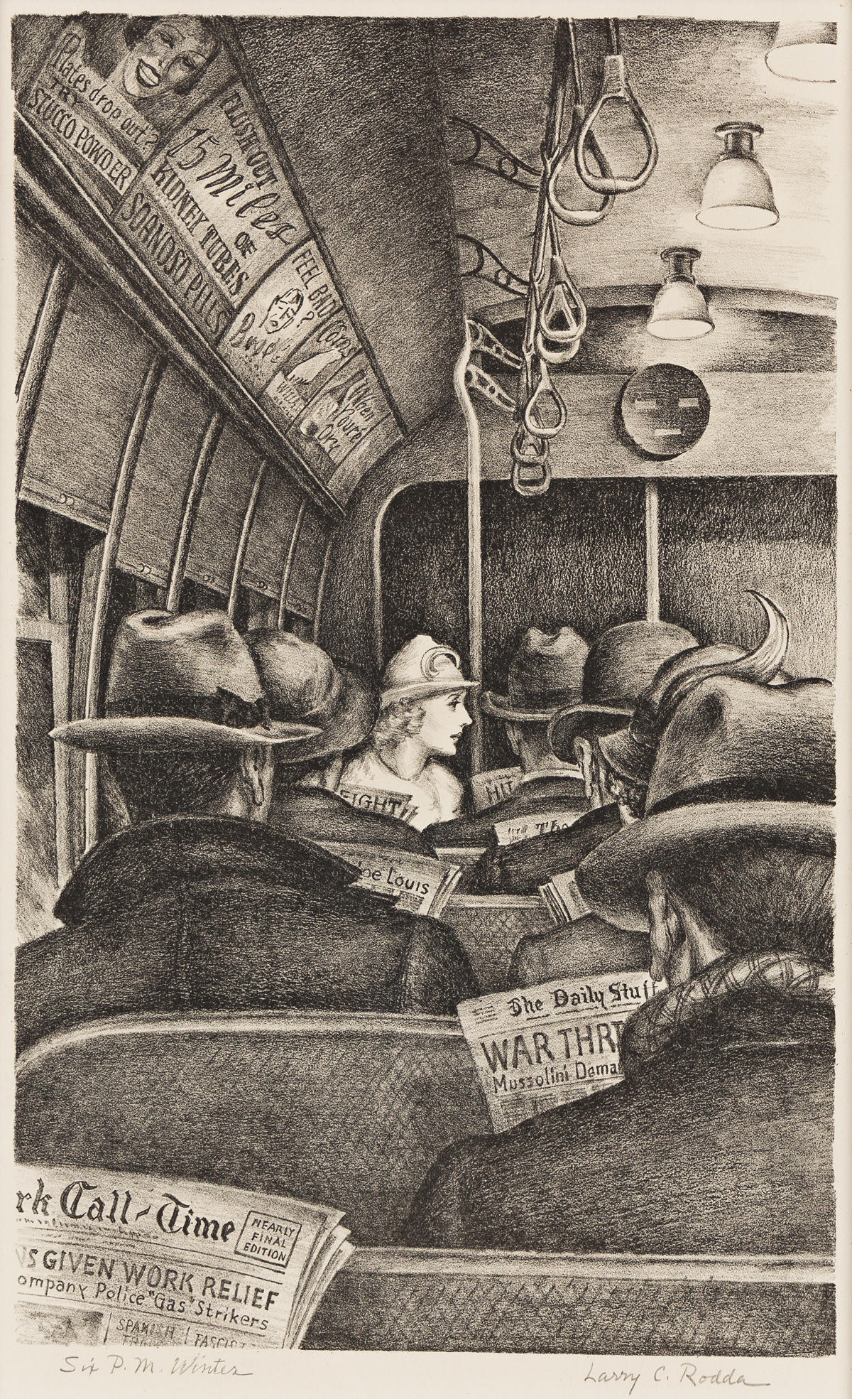 LARRY C. RODDA (1902-1989) Six P.M., Winter.