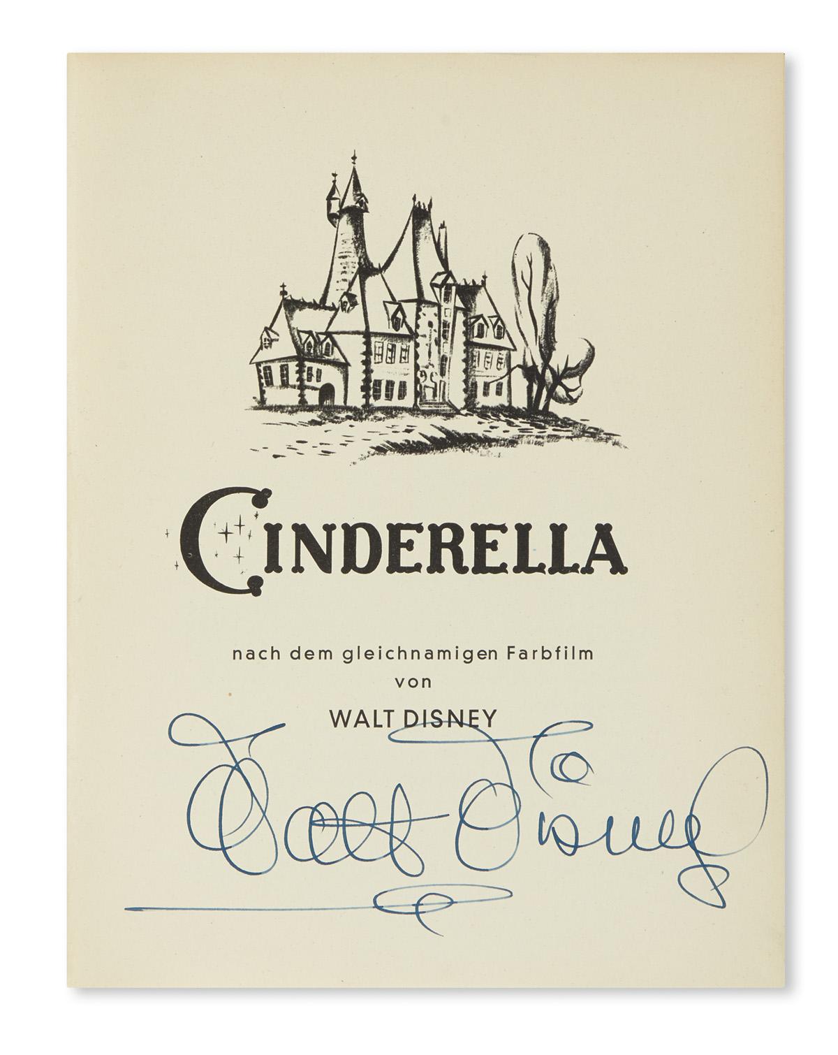 DISNEY-WALT-Perrault-Cinderella-Signed-on-the-half-title