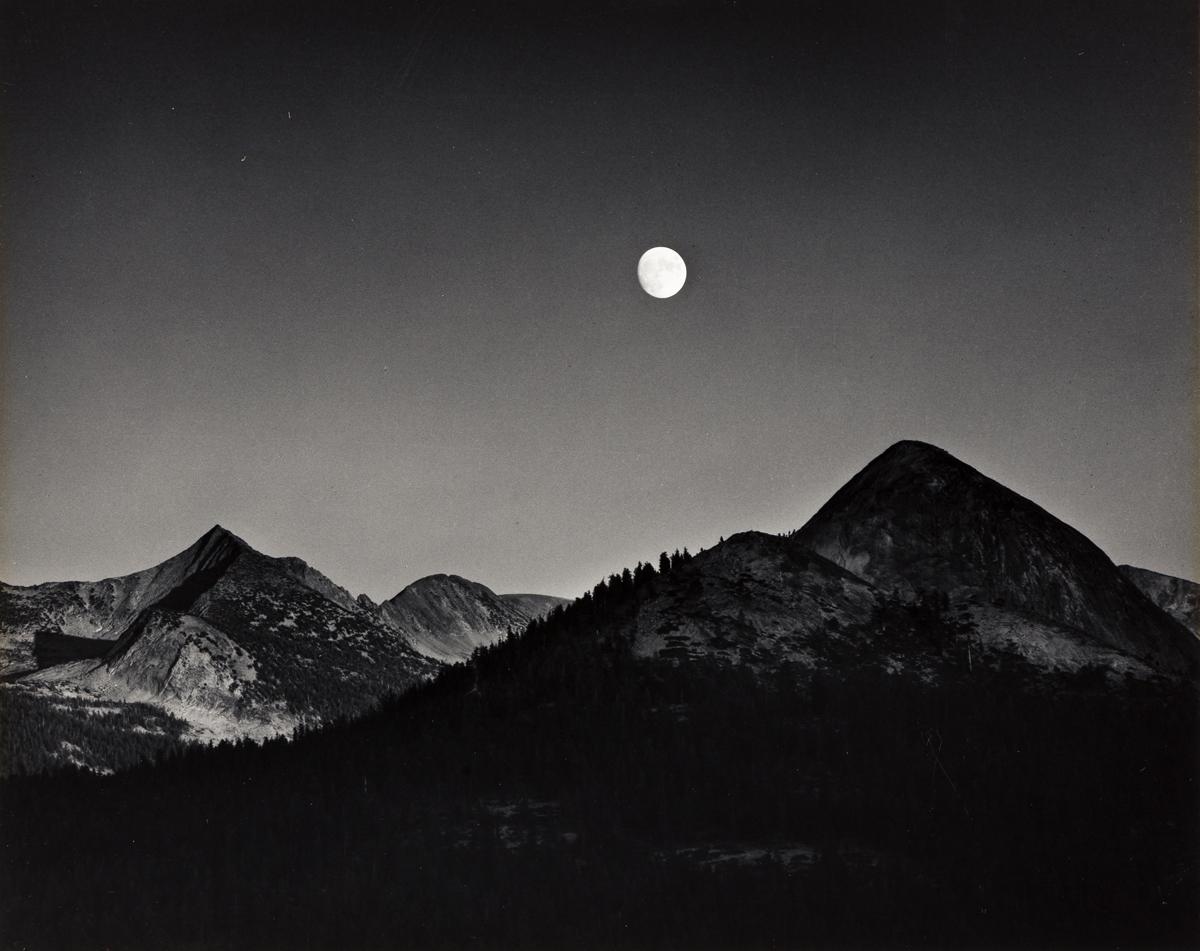 ANSEL ADAMS (1902-1984) Moonrise from Glacier Point, Yosemite National Park, California.