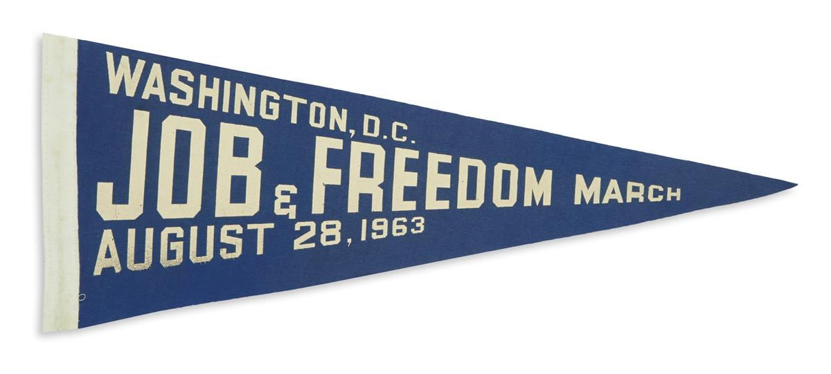 (CIVIL RIGHTS.) Pennant from the March on Washington.