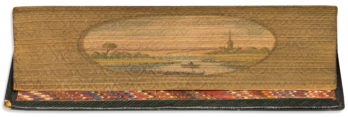 (FORE-EDGE PAINTING.) Crabbe, George. The Poetical Works.