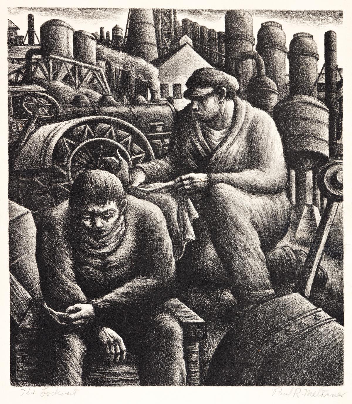 PAUL MELTSNER (1905-1967) The Lockout.
