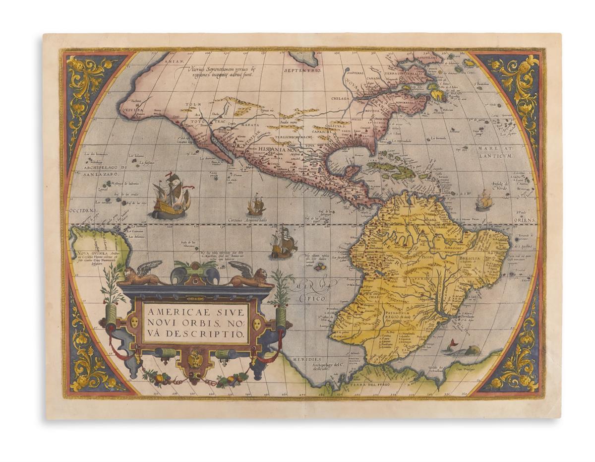 ORTELIUS, ABRAHAM. Americae Sive Novi Orbis, Nova Descriptio.