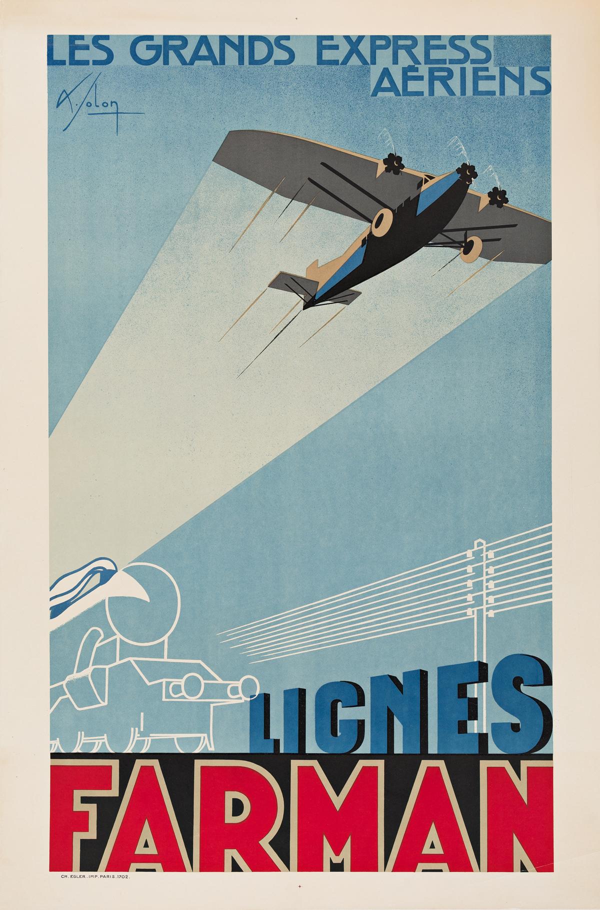 Albert-Solon-(1897-1973)--LIGNES-FARMAN--LES-GRANDES-EXPRESS