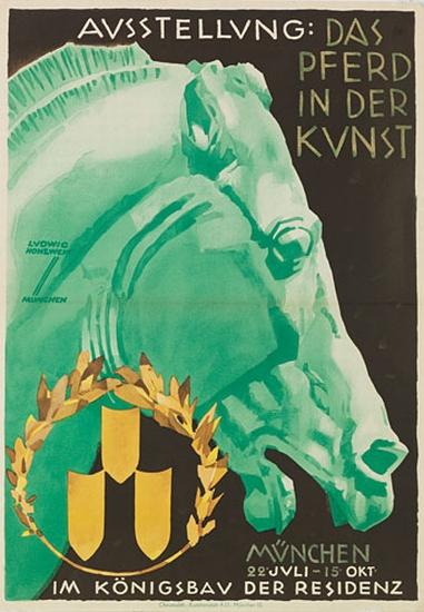 LUDWIG-HOHLWEIN-(1874-1949)-AUSSTELLUNG--DAS-PFERD-IN-DER-KU