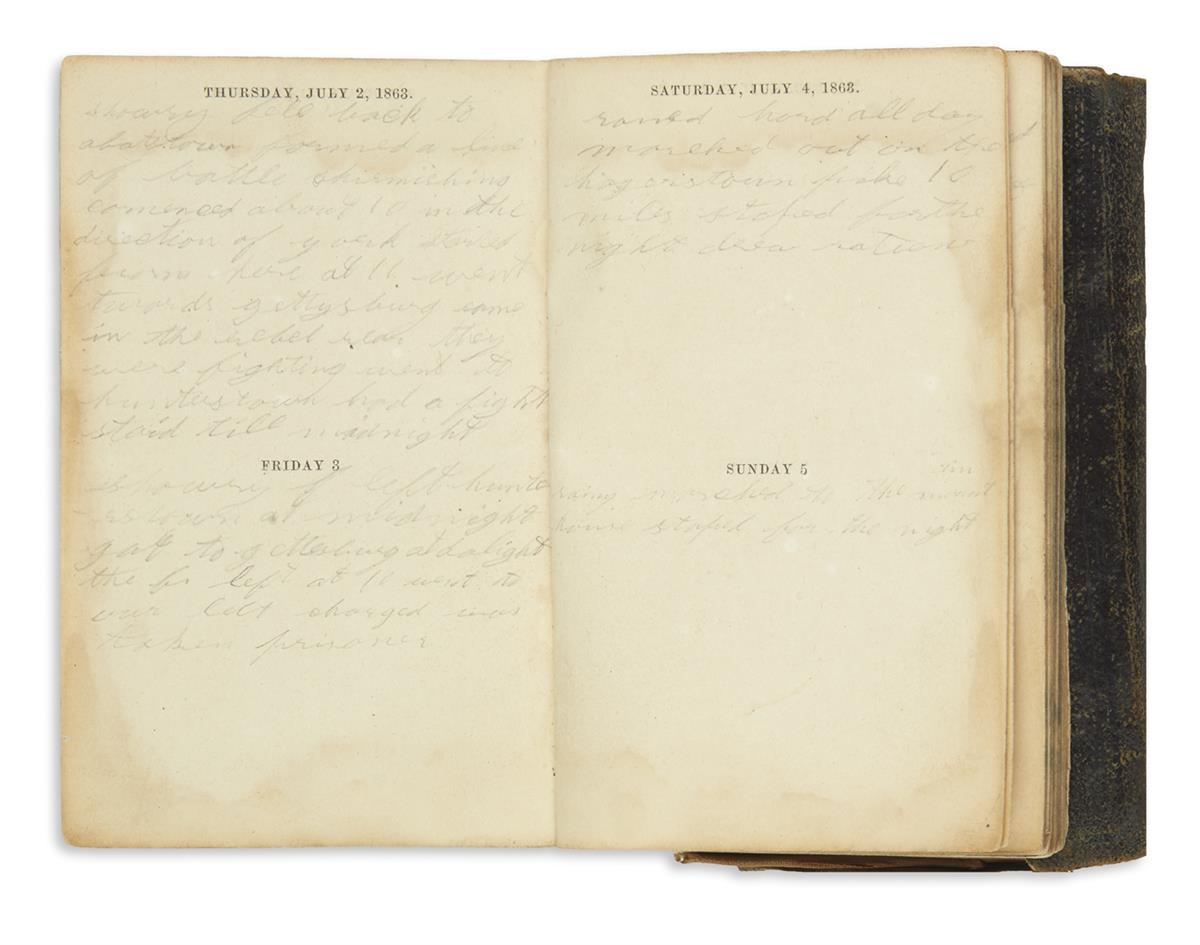 (CIVIL WAR--VERMONT.) Warren, Daniel D. Diaries of a Vermont cavalryman during the Civil War.