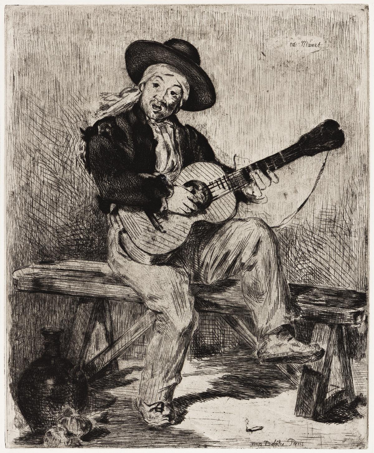 ÉDOUARD MANET Le Guitarrero (ou Le Chanteur Espagnol).