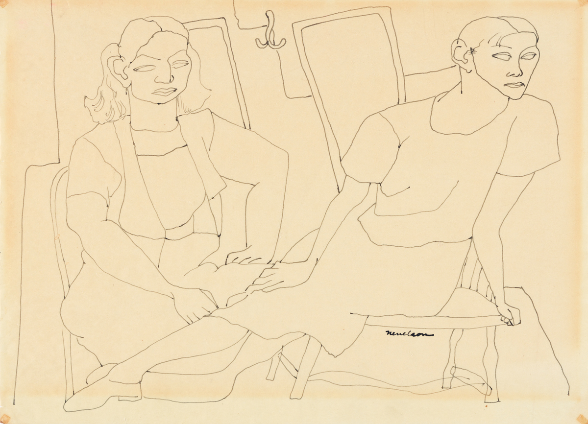 LOUISE NEVELSON Two Seated Women.