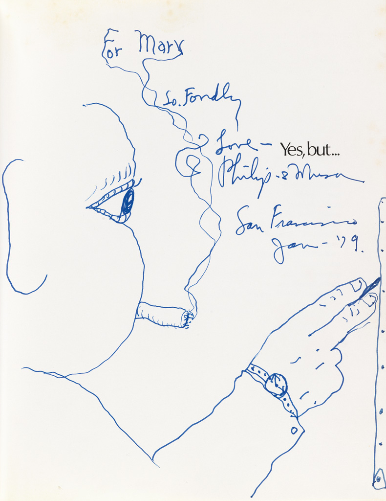 PHILIP GUSTON Untitled (Self Portrait with a Cigarette, Painting).
