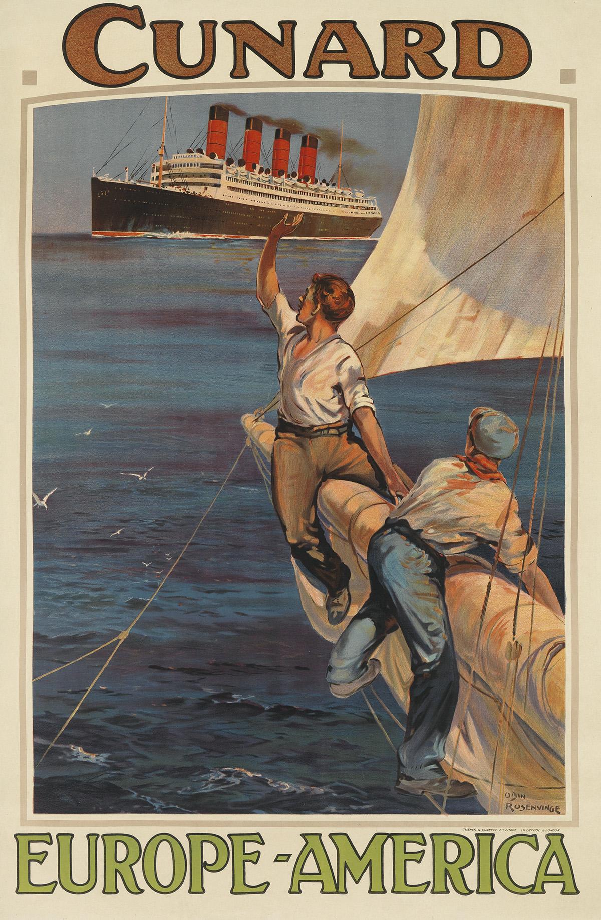 ODIN-ROSENVINGE-(1880-1957)-CUNARD--EUROPE---AMERICA-Circa-1