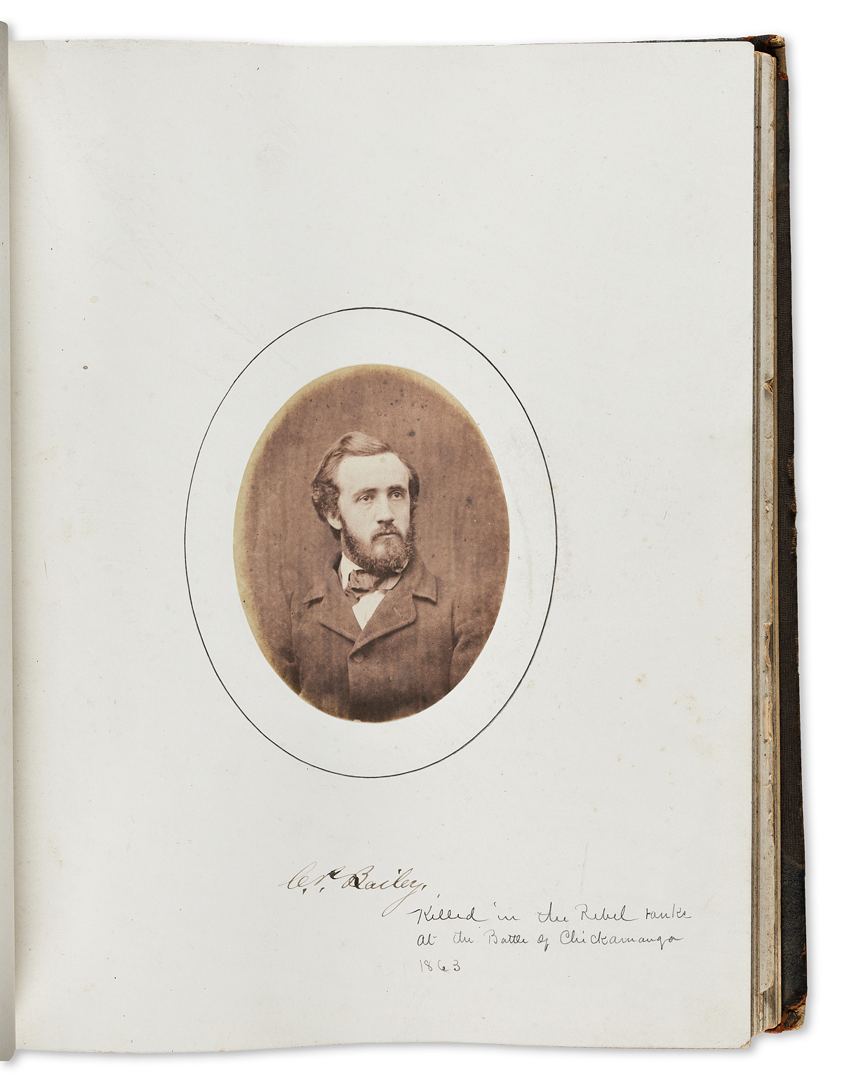 (NEW HAMPSHIRE.) Dartmouth College photograph album / yearbook for the Class of 1859.