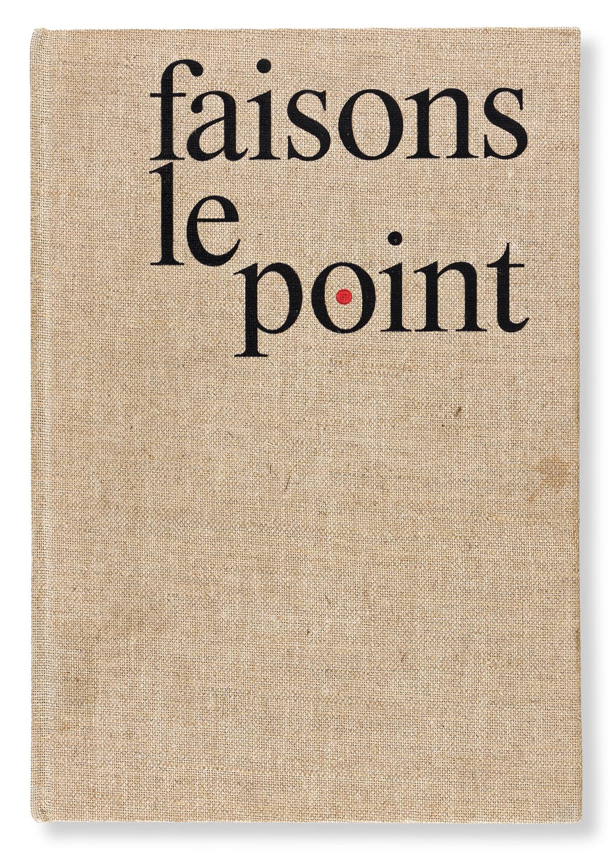 [SPECIMEN BOOK — MAXIMILIEN VOX]. Faisons le Point. From the series Cent Alphabets Monotype. Paris: Draeger Frères for Union Biblioph