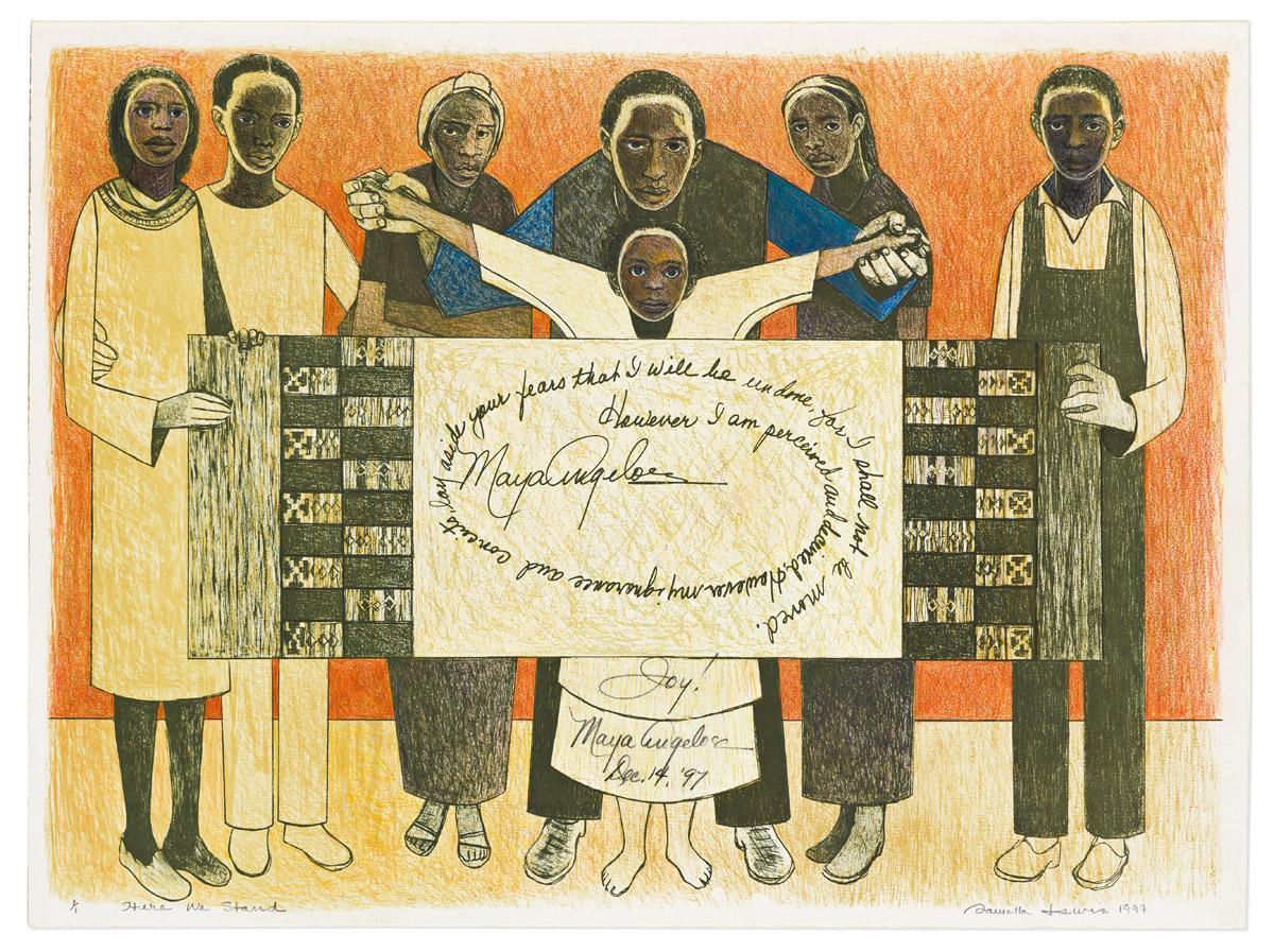 SAMELLA LEWIS (1924 - ) Together We Stand.