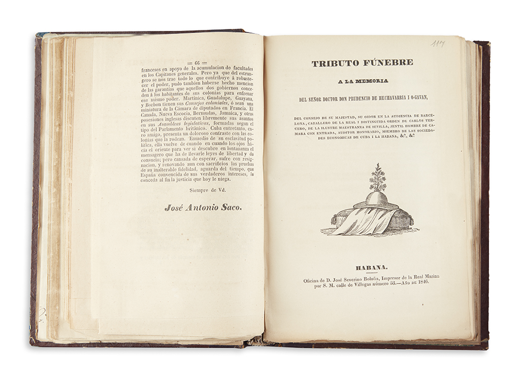 (CUBA.) Large compilation of mid-19th century Cuban pamphlets and manuscripts on slavery and other subjects.