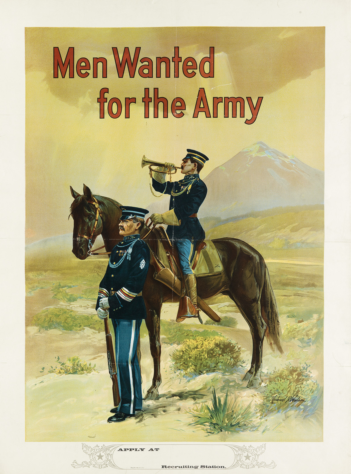 MICHAEL-P-WHELAN-(DATES-UNKNOWN)-MEN-WANTED-FOR-THE-ARMY-Cir