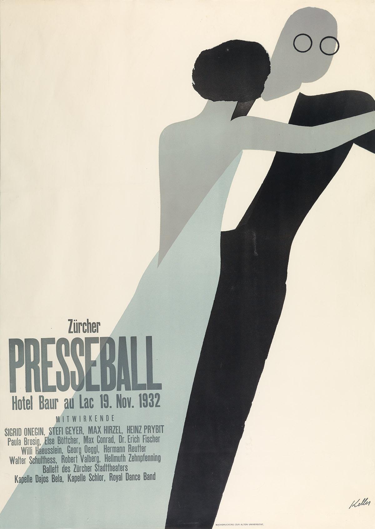 ERNST-KELLER-(1891-1968)-ZÜRICHER-PRESSEBALL-1932-50x36-inch