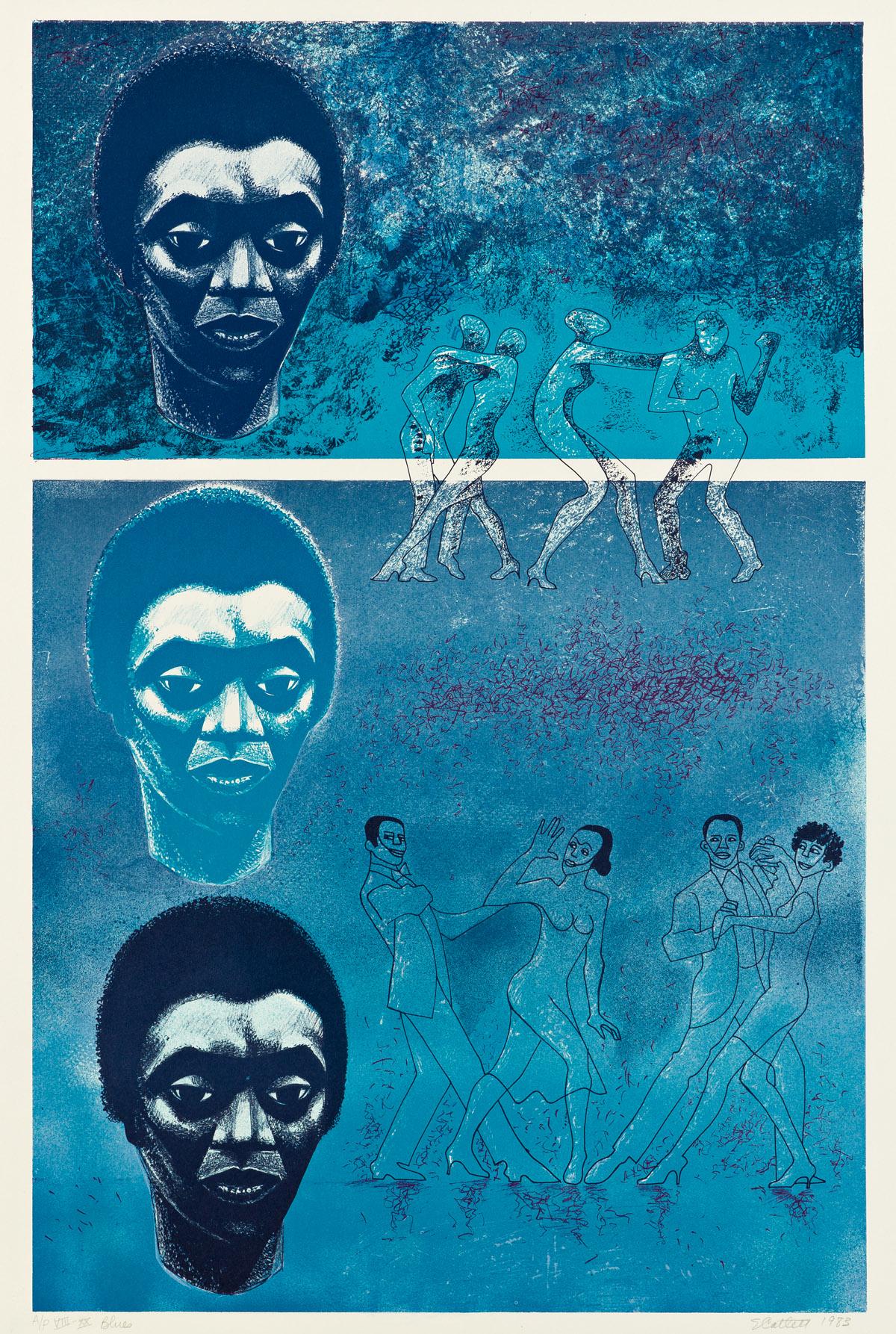 ELIZABETH CATLETT (1915 - 2012) Blues.