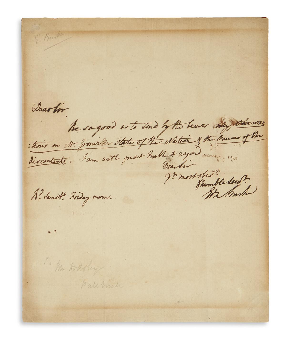 BURKE-EDMUND-Brief-Autograph-Letter-Signed-EdmBurke-to-books