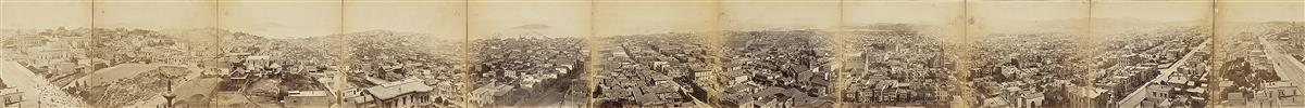 EADWEARD-MUYBRIDGE-(1830-1904)-Panorama-of-San-Francisco-fro