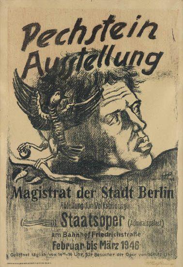 MAX-PECHSTEIN-(1881-1955)-PECHSTEIN---AUSSTELLUNG-1946-23x16-inches-58x40-cm-Maximilian-Druck-Berlin
