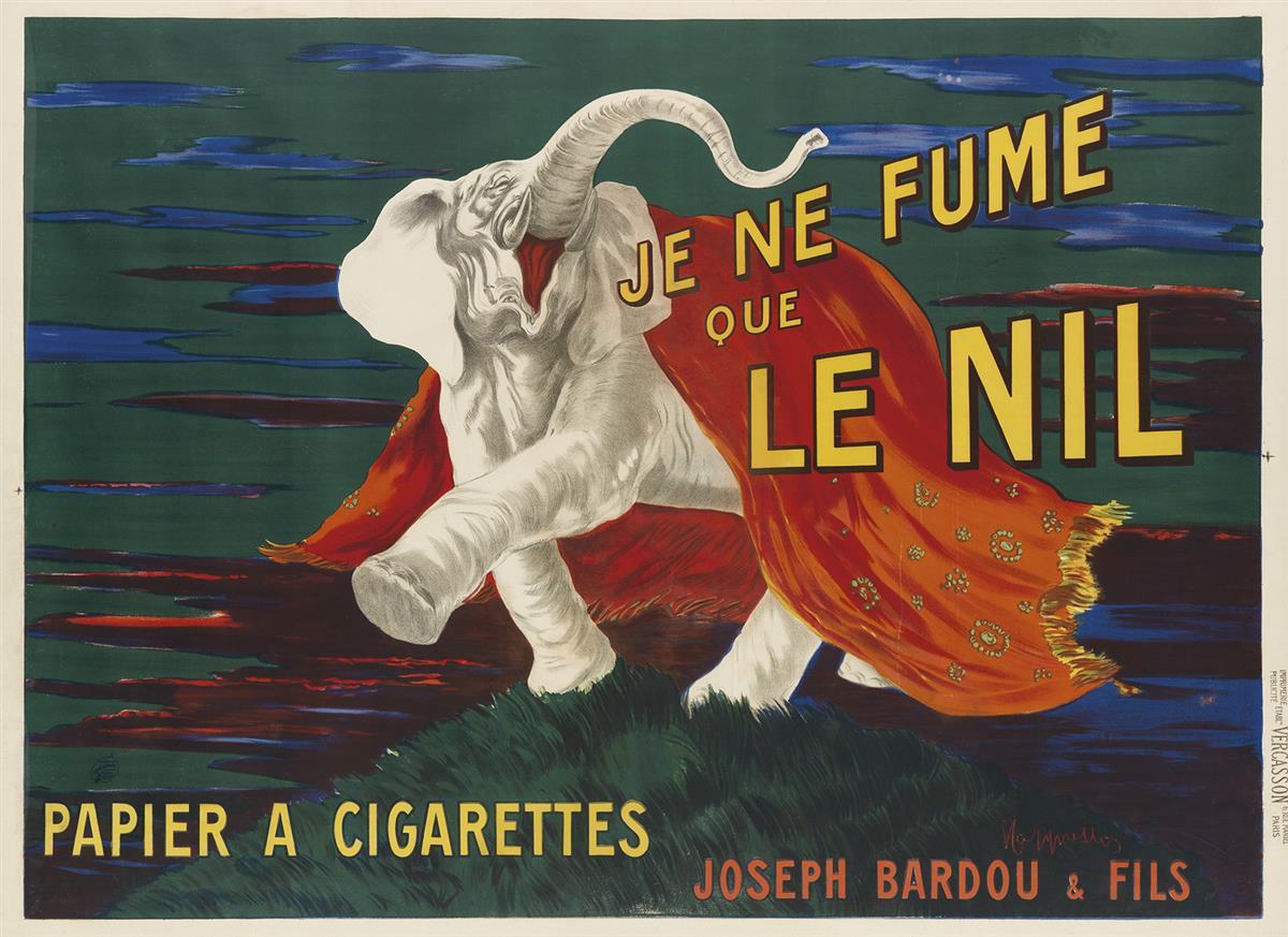 LEONETTO CAPPIELLO (1875-1942). JE NE FUME QUE LE NIL. 1912. 46x62 inches, 116x158 cm. Vercasson, Paris.