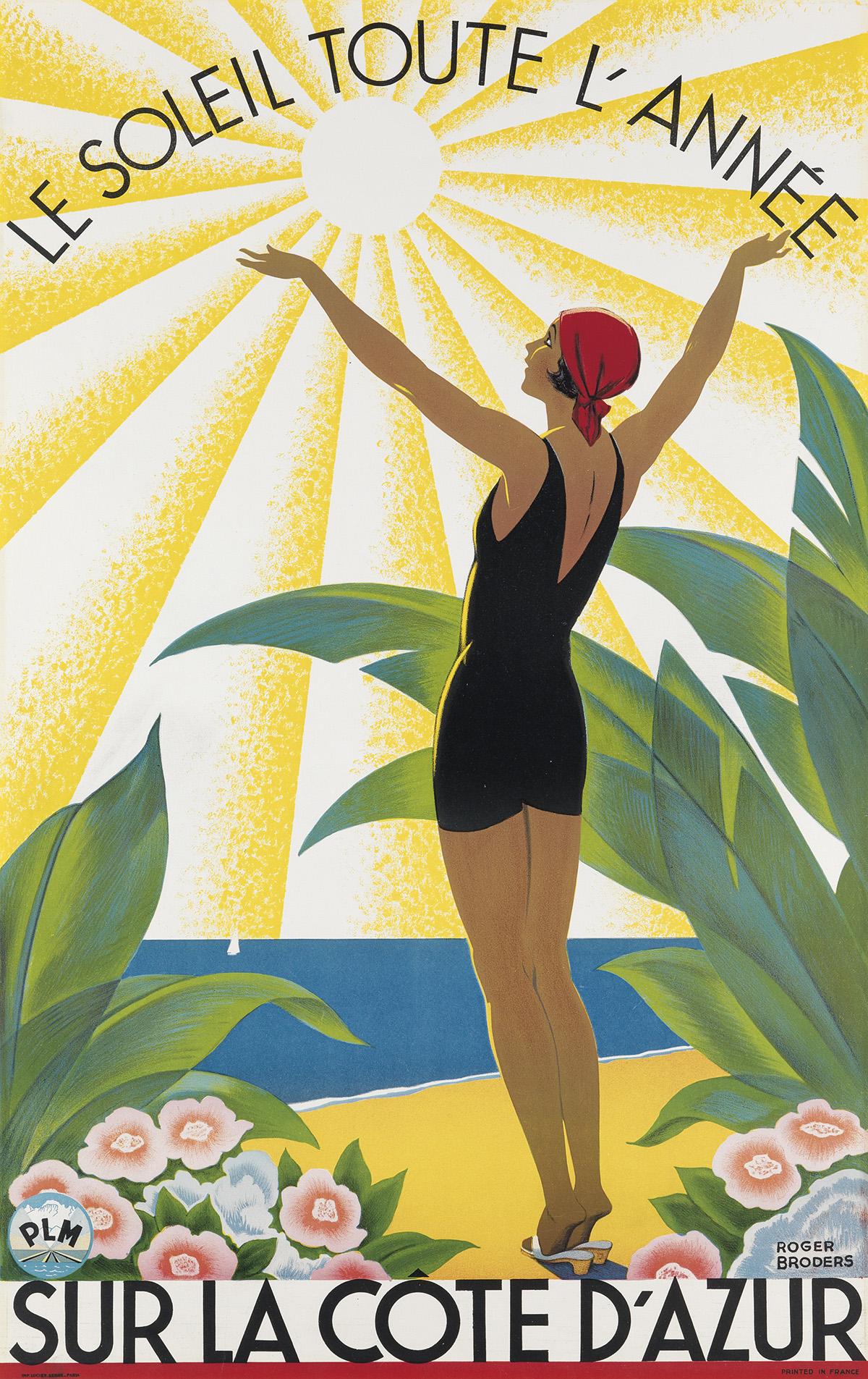 ROGER-BRODERS-(1883-1953)-SUR-LA-CÔTE-DAZUR-Circa-1931-39x24