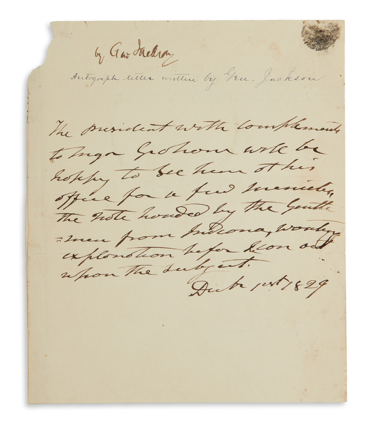 ANDREW-JACKSON-Autograph-Note-Signed-The-President-in-the-th