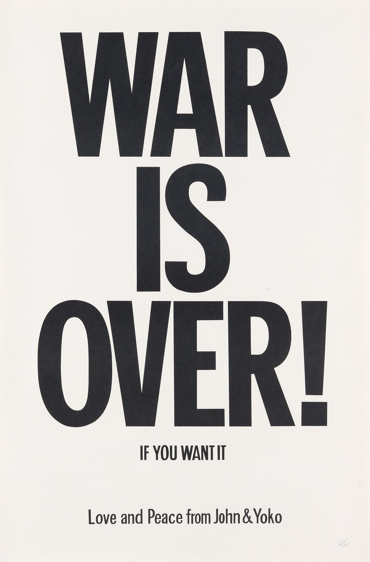 JOHN-LENNON-(1940-1980)--YOKO-ONO-(1933--)-WAR-IS-OVER--IF-Y