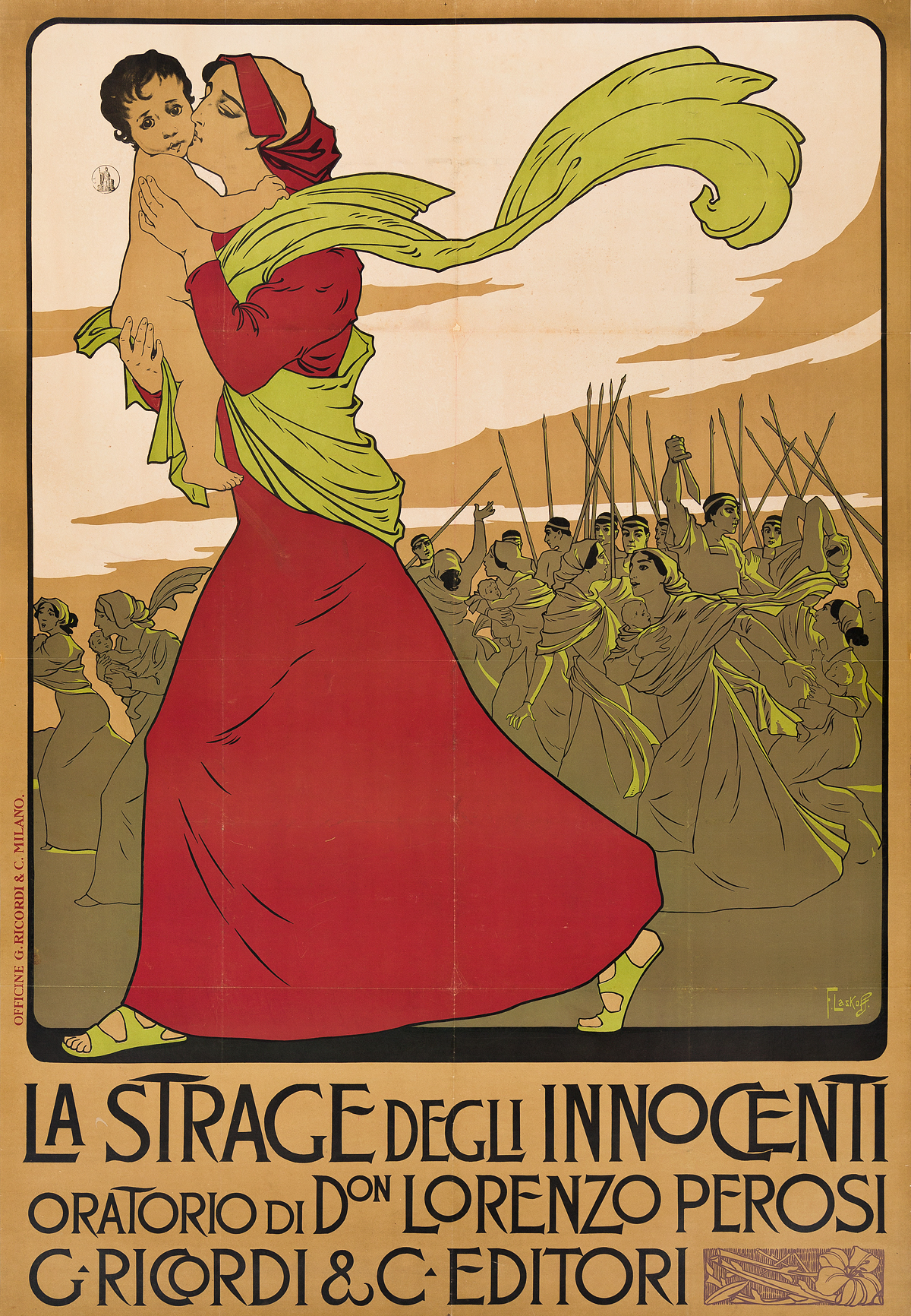 FRANZ-LASKOFF-(FRANCOIS-LASKOWSKI-1869-1921)-LA-STRAGE-DEGLI-INNOCENTI-Circa-1900-57x39-inches-145x100-cm-Ricordi--C-Milan