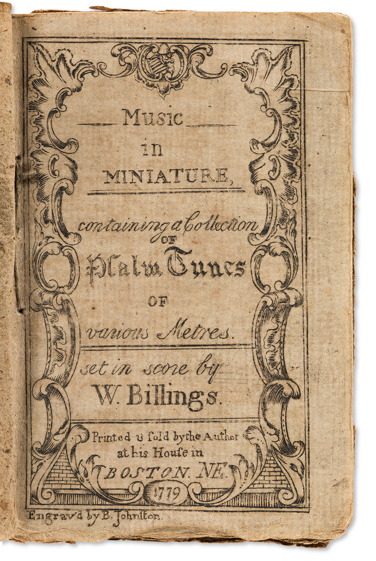 (MUSIC)-William-Billings-Music-in-Miniature-Containing-a-Col