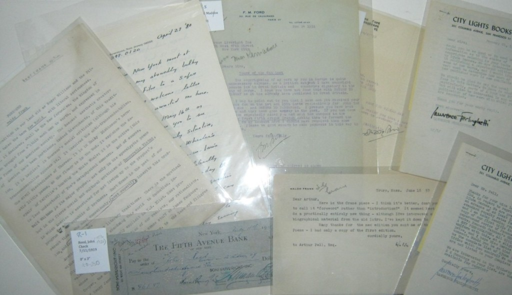 (WRITERS.) Group of 8 items Signed, by 20th-century writers,