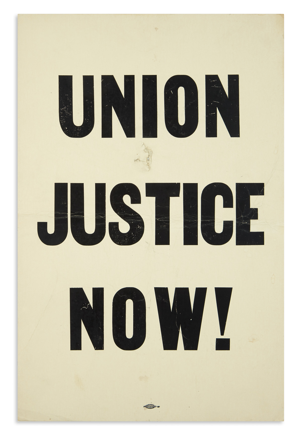(KING, MARTIN LUTHER.) Union Justice Now!