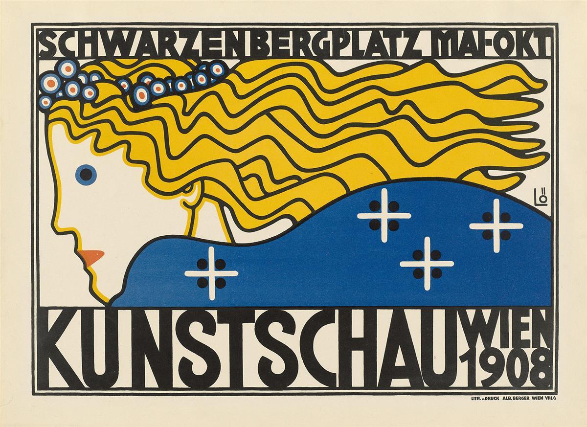 BERTOLD-LÖFFLER-(1874-1960)-KUNSTSCHAU-WIEN-1908-14x19-inche