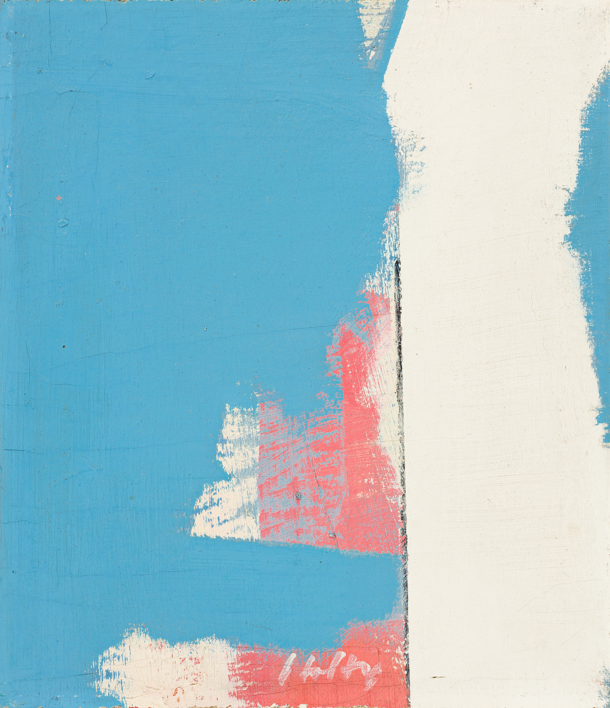 CARL HOLTY (1900 - 1973, AMERICAN) Light Blue Heavy White, #13