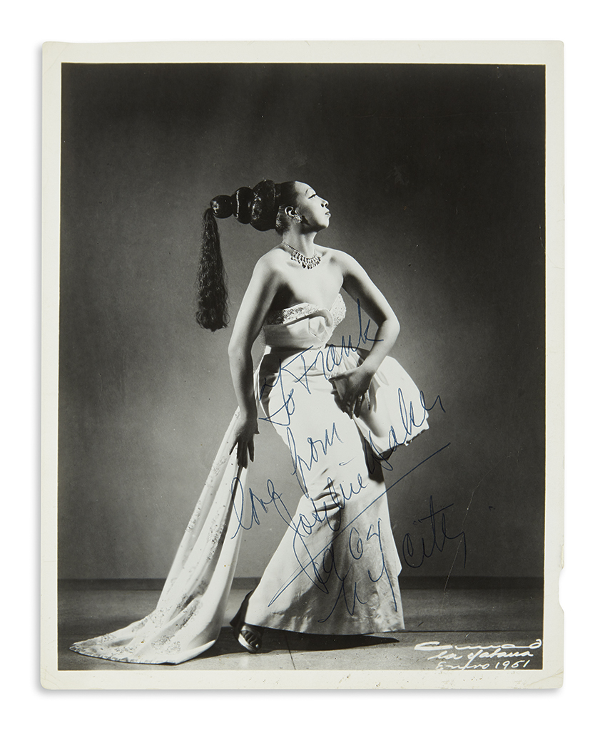 BAKER-JOSEPHINE-Photograph-Signed-and-Inscribed-To-Frank--lo
