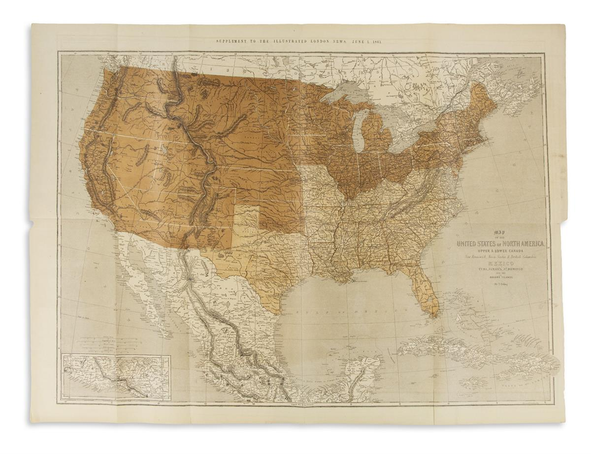 (CIVIL-WAR)-Ettling-Theodor-Map-of-the-United-States-of-Nort