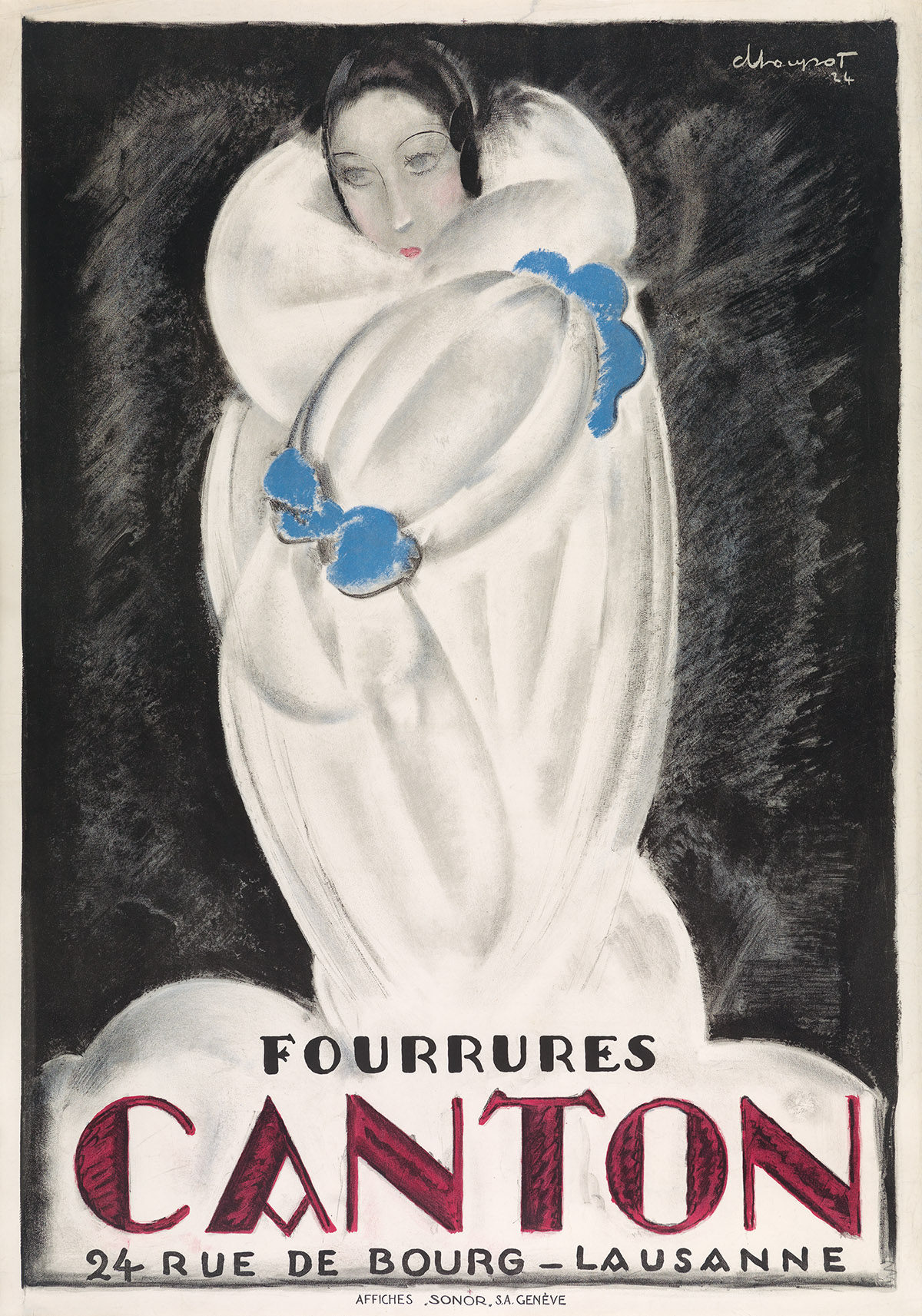 CHARLES-LOUPOT-(1892-1962)-FOURRURES-CANTON-1924-50x35-inche