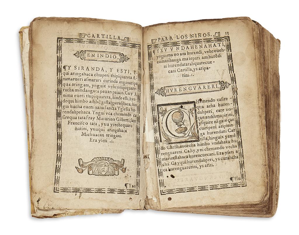 (MEXICAN IMPRINT--1575.) [Gilberti, Maturino.] [Thesoro spiritual de pobres en legua de Michuacá.]