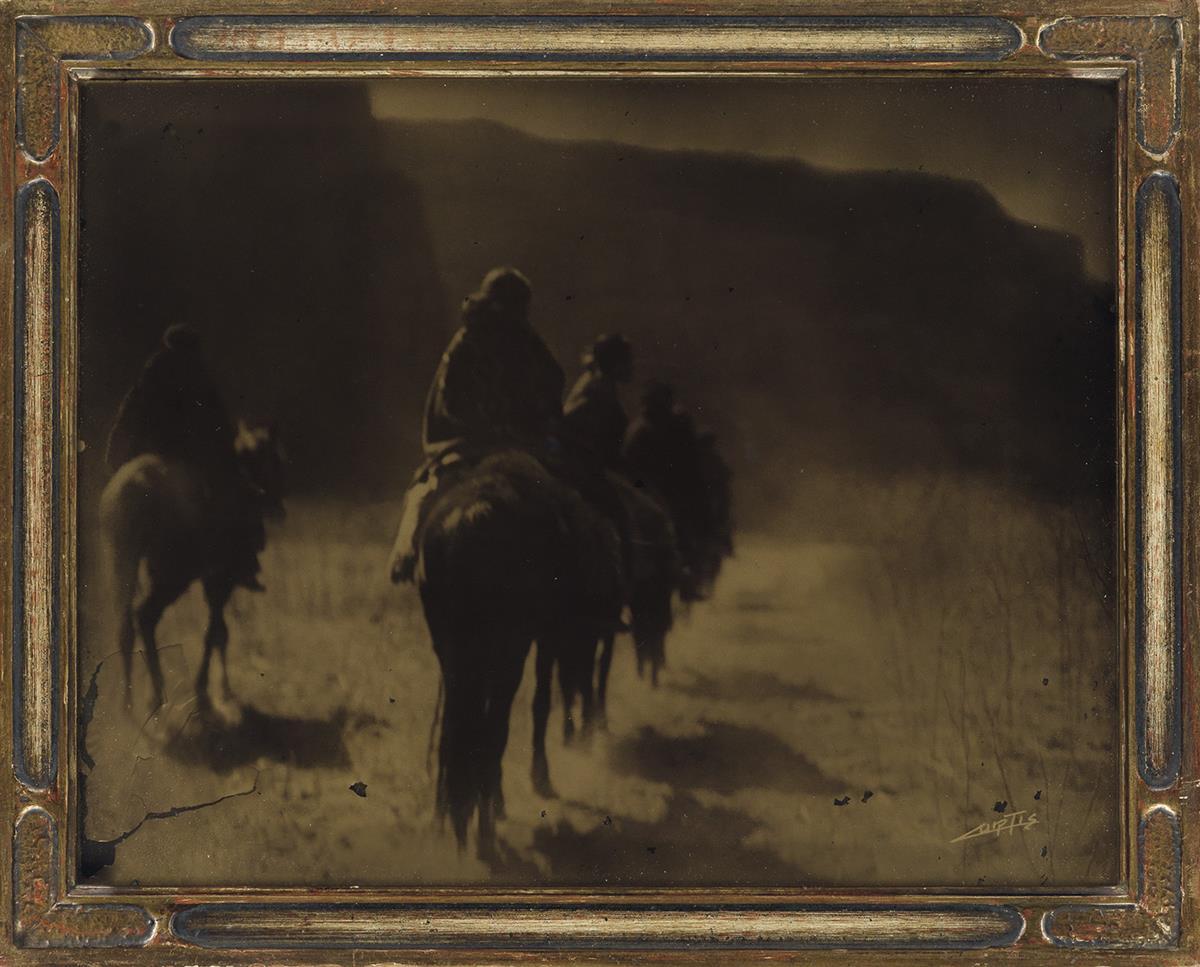 EDWARD S. CURTIS (1868-1952) The Vanishing Race * Flathead Camp on the Jocko (variant).