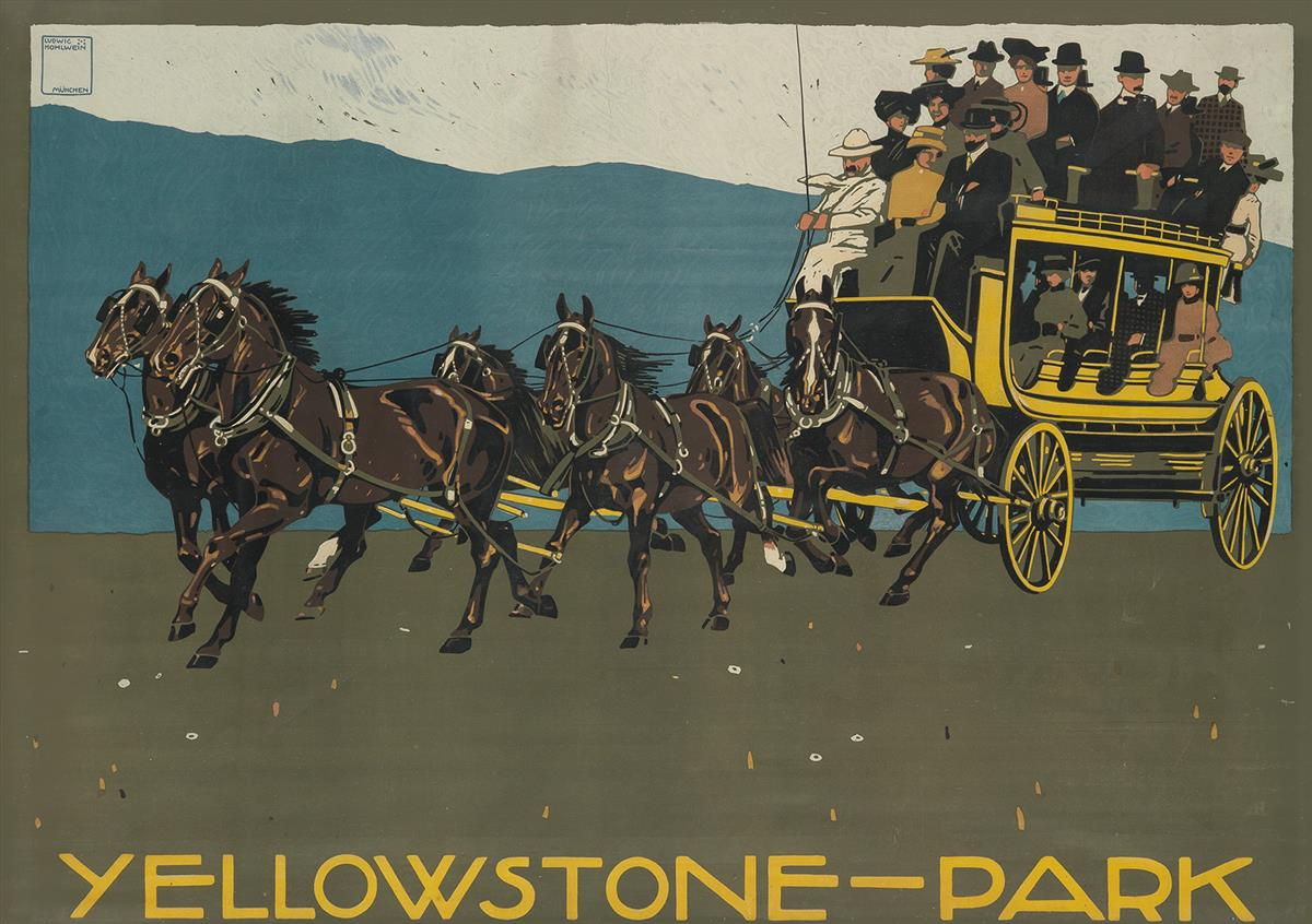 LUDWIG-HOHLWEIN-(1874-1949)-YELLOWSTONE---PARK-1910-33x48-in