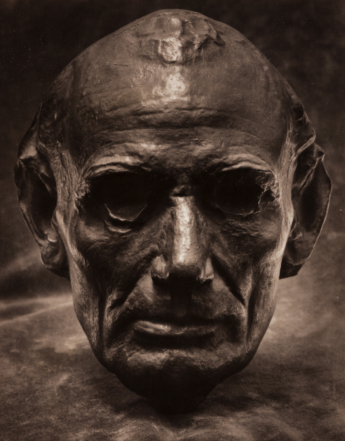 EDWARD STEICHEN (1879-1973) Life Mask of Abraham Lincoln.