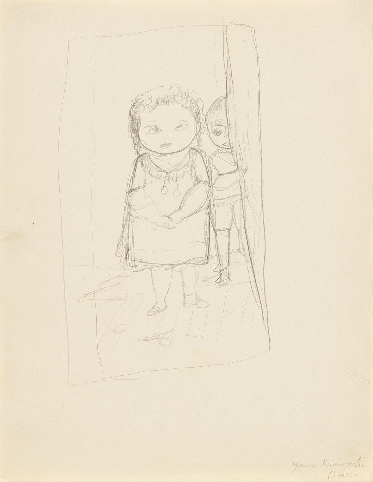 YASUO KUNIYOSHI (1889-1953) Girl and Boy.