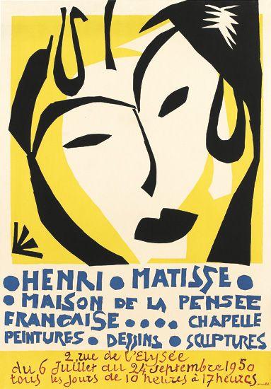 HENRI MATISSE (1869-1954). MAISON DE LA PENSEE. 1950. 30x20 inches, 76x52 cm. Mourlot, Paris.