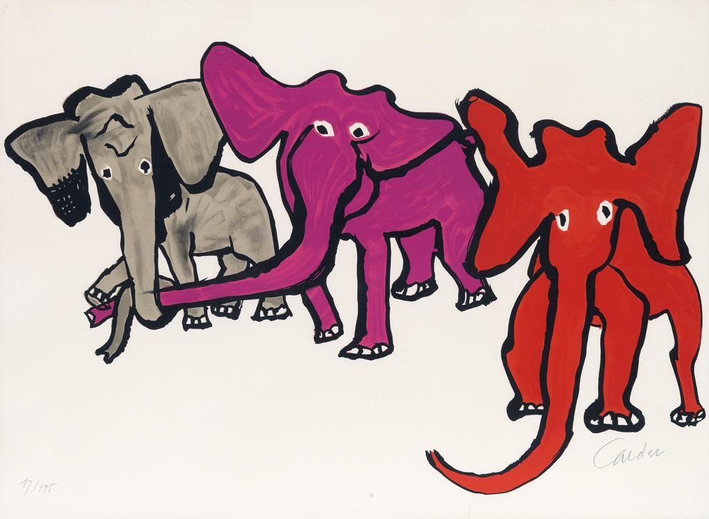 ALEXANDER CALDER Three Elephants.
