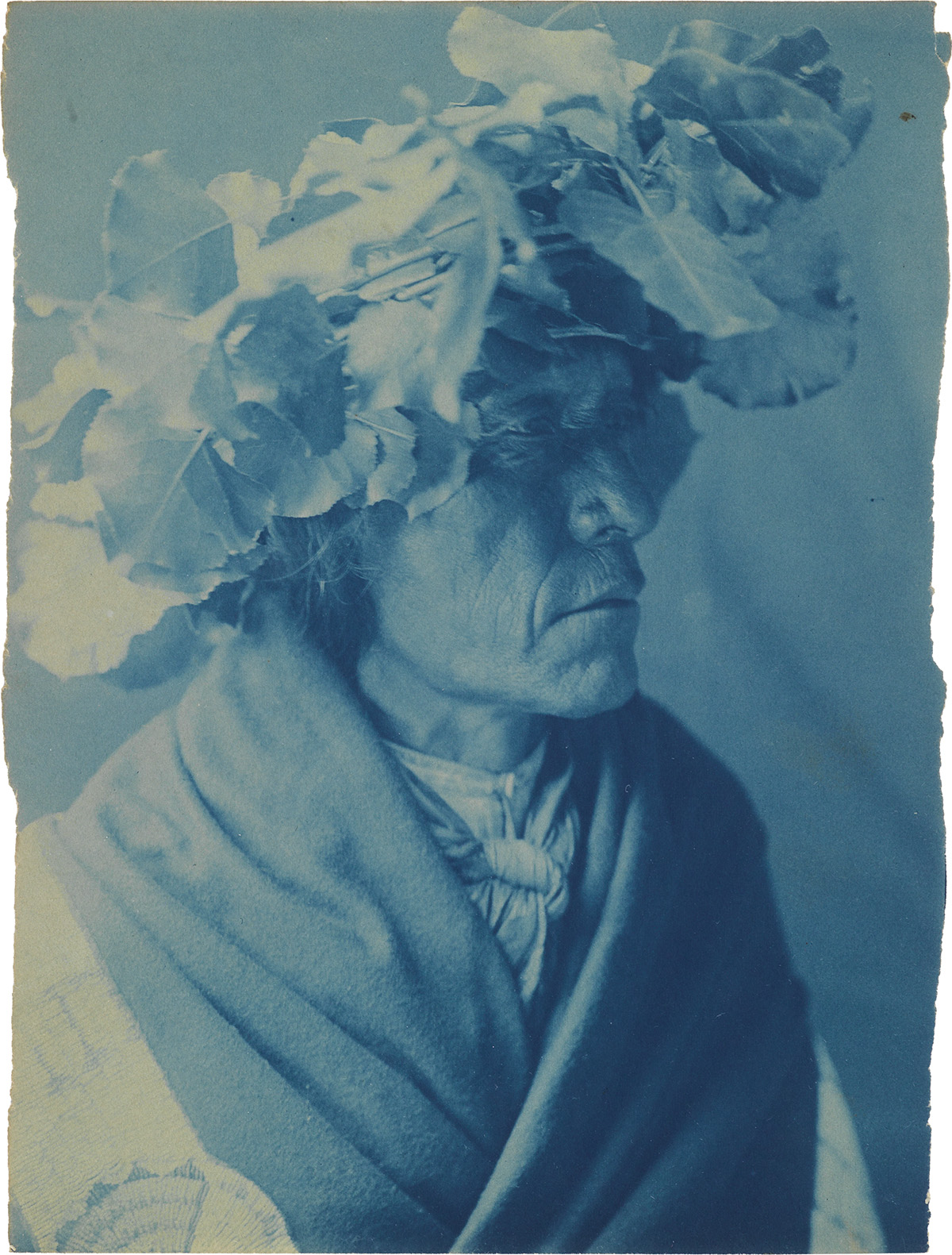 EDWARD S. CURTIS (1868-1952) A suite of 18 cyanotypes, with images from the Kwakiutl, Cheyenne, Cowichan, and Flathead, including portr