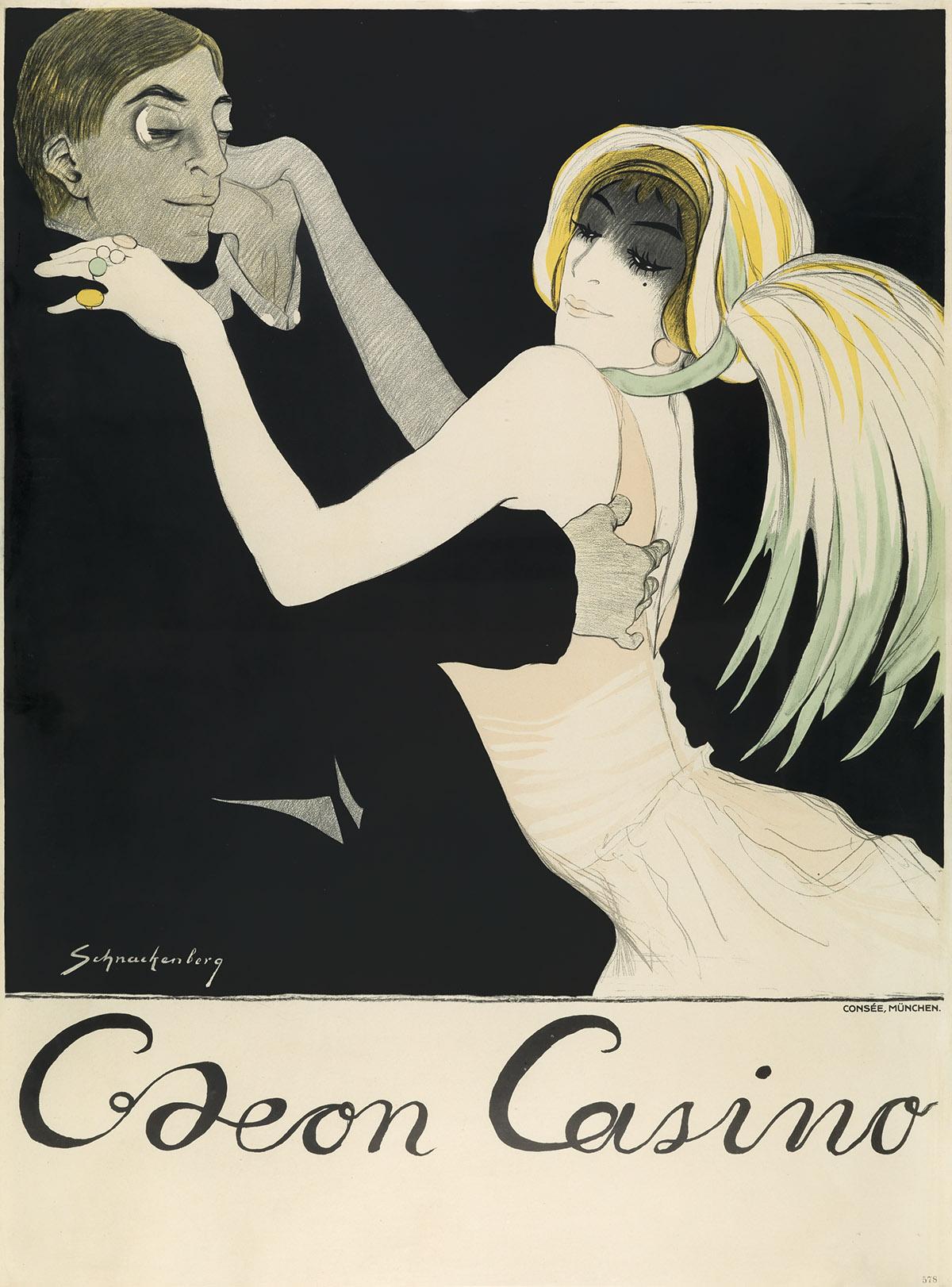 WALTER SCHNACKENBERG (1880-1961). ODEON CASINO. 1912. 47x35 inches, 119x89 cm. Consée, Munich.